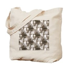 Beethoven Portrait Pattern Tote Bag
