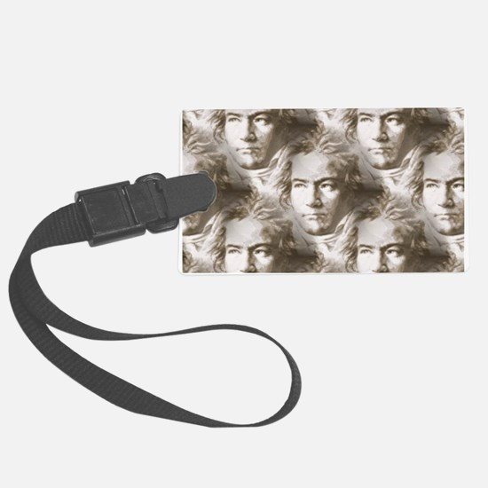 Beethoven Portrait Pattern Luggage Tag