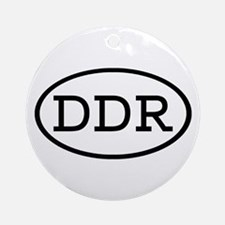 DDR Oval Ornament (Round)
