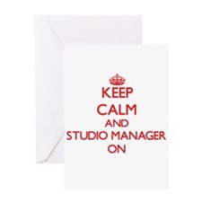 Keep Calm and Studio Manager ON Greeting Cards