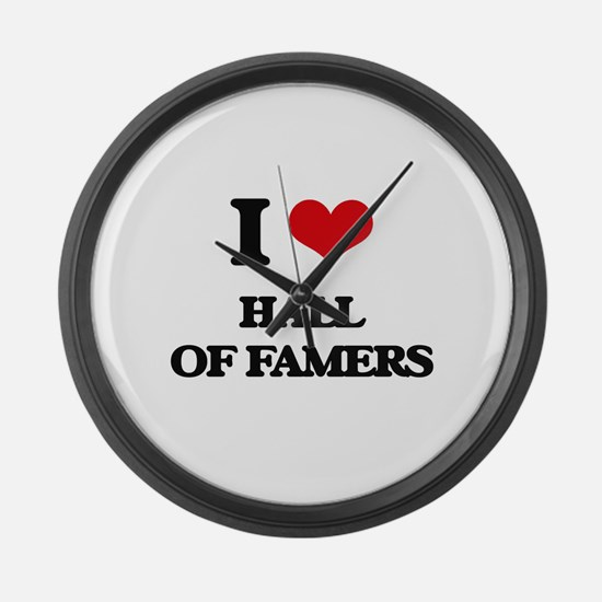 I Love Hall Of Famers Large Wall Clock