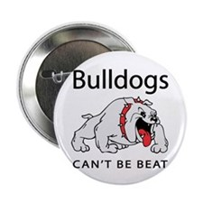 """Bulldogs can't be beat 2.25"""" Button (10 pack)"""
