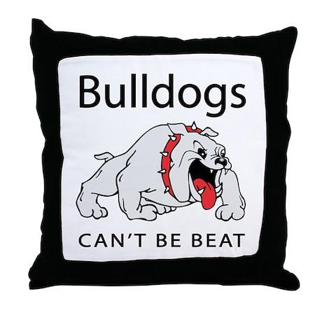 Bulldogs can't be beat Throw Pillow