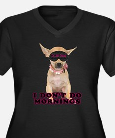 Sleepy Chihuahua Women's Plus Size V-Neck Dark T-S