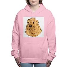 shar-pei-portrait.t... Women's Hooded Sweatshirt