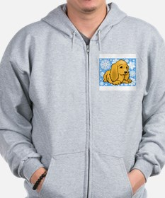 FIN-holiday-cocker-spaniel.png Zip Hoodie