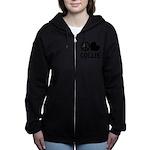 FIN-peace-love-collie.png Women's Zip Hoodie