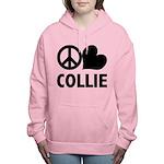 FIN-peace-love-collie.png Women's Hooded Sweatshir