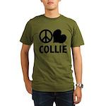 FIN-peace-love-collie.png Organic Men's T-Shirt (d