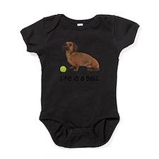 FIN-dachshund-life-ball.png Baby Bodysuit