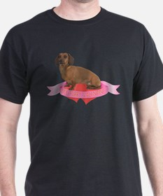 FIN-dachshund-smooth-valentine.png T-Shirt