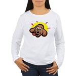happy-dachshund.png Women's Long Sleeve T-Shirt