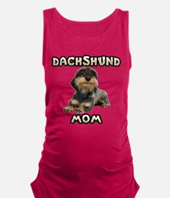 Wirehaired Dachshund Mom Maternity Tank Top