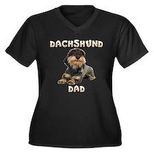 Wirehaired Dachshund Dad Women's Plus Size V-Neck