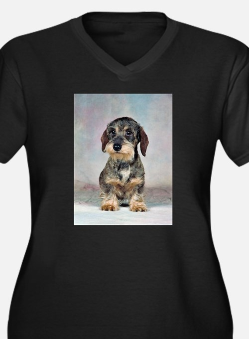 FIN-wirehaired-dachshund-PRINT-9x12.png Women's Pl