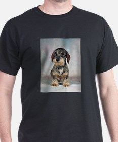 FIN-wirehaired-dachshund-PRINT-9x12.png T-Shirt