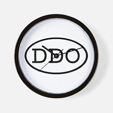 DDO Oval Wall Clock