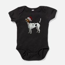 FIN-english-foxhound-santa-CROP.png Baby Bodysuit