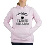FIN-team-french-bulldog.png Women's Hooded Sweatsh