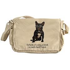 FIN-french-bulldog-best-friend.png Messenger Bag