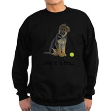 FIN-german-shepherd-puppy-life.png Sweatshirt (dar