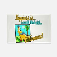 Happiness is Dinosaurs Rectangle Magnet