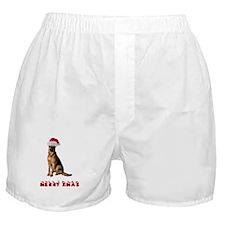 German Shepherd Christmas Boxer Shorts