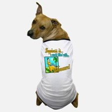 Happiness is Dinosaurs Dog T-Shirt
