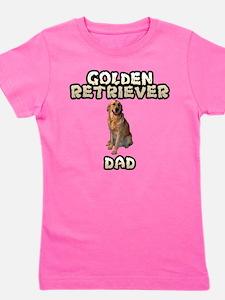 Golden Retriever Dad Girl's Tee