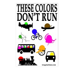 These Colors Don't Run Postcards (8 pack)