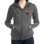 Gordon Setter Santa Women's Zip Hoodie