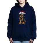 Gordon Setter Santa Women's Hooded Sweatshirt