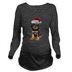 Gordon Setter Santa Long Sleeve Maternity T-Shirt