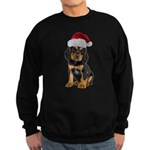 Gordon Setter Santa Sweatshirt (dark)