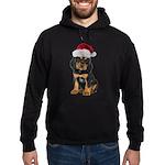Gordon Setter Santa Hoodie (dark)