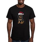 Gordon Setter Santa Men's Fitted T-Shirt (dark)