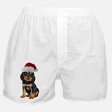 Gordon Setter Santa Boxer Shorts