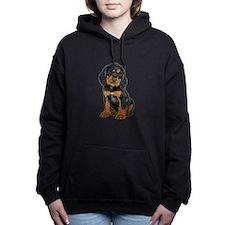 Gordon Setter Puppy Women's Hooded Sweatshirt