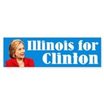 Illinois For Hillary Clinton Bumper Sticker