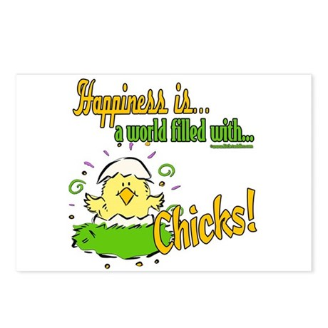 Happiness is a Chick Postcards (Package of 8)