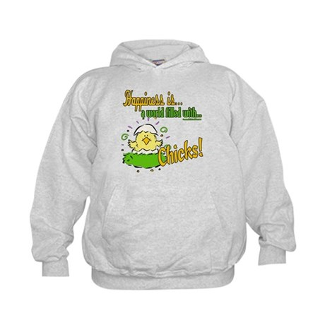Happiness is a Chick Kids Hoodie