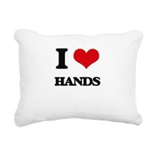 I Love Hands Rectangular Canvas Pillow