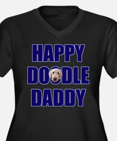 FIN-happy-doodle-daddy.png Women's Plus Size V-Nec