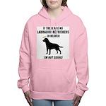 black-labs-heaven.png Women's Hooded Sweatshirt