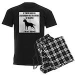 black-labs-heaven.png Men's Dark Pajamas