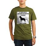 black-labs-heaven.png Organic Men's T-Shirt (dark)