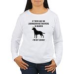 black-labs-heaven.png Women's Long Sleeve T-Shirt