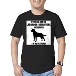 black-labs-heaven.png Men's Fitted T-Shirt (dark)