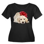 Yellow Lab Puppy Women's Plus Size Scoop Neck Dark
