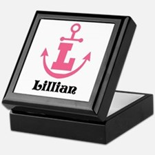 Custom Anchor Monogram L Keepsake Box